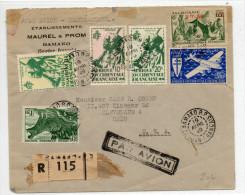 1949 - AOF - ENVELOPPE RECOMMANDEE Avec MIXTE (MAURITANIE) De BAMAKO (SOUDAN FRANCAIS) Pour Les USA - Brieven En Documenten