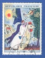 *  1963  N° 1398  MARC CHAGALL  OBLITÉRÉ - Plaatfouten En Curiosa