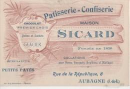 PATISSERIE CONFISERIE ( Mo Sicard Fonde En 1830 ) - Visiting Cards