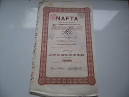 NAFTA Exploitation Du Petrole (capital 4,65 Millions) - Unclassified