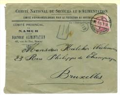Namur-Namen Cachet à Pont A 18.6.19 10ct N°138 Comité National De Secours Et D´Alimentation Cté Hispano-Néerlandais - 1915-1920 Albert I.