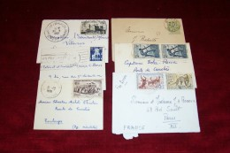 6 PTITE  ENVELOPPES TIMBRE  DES COLONNIES FRANCAISE - Stamps