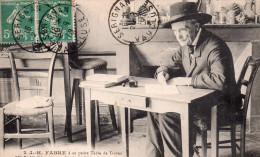 """Cpa  84  Serignan , Le Naturaliste  """" J.h.fabre """" A Sa Petite Table De Travail - France"""