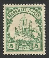 Marshall Islands, 5 Pf.  1901, Sc # 14, Mi # 14, MH. - Colony: Marshall Islands