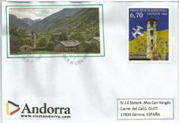 ANDORRE.Eglise Romane De Santa Coloma, La Plus Vieille église De La Principauté,Patrimoine Mondial De L´UNESCO - Andorre Français