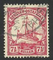 German East Africa, 7 1/2 H.  1906, Sc # 33, Mi # 32, Used, Wilhelmsthal - Colony: German East Africa