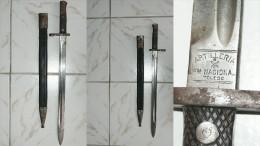 BAIONNETTE ARTILLERIE MODELE 1893 - ARMEE ESPAGNOLE LONGUE - Knives/Swords