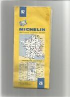 MICHELIN Carte N°  92      Année   1983  - PONTARLIER GRENOBLE       -usagée- Net En L'état  1 - Cartes/Atlas