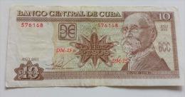 CUBA 10 PESOS 2011 VF