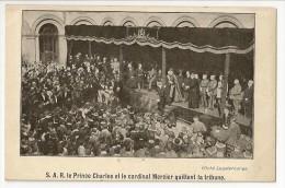 S1705 - Institut St Louis Bruxelles - Inauguration Du Mémorial (29/7/1922) - Le Prince Charles Et Le Cardinal Mercier - Inaugurations