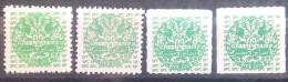 10 Lebanon 1970 MNH SPC Green Revenue Stamps - 4 Diff Types - MNH - Anti-Polution Fuel Stamp - Lebanon