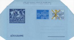 Vatican City 1979 A 16 Keys With Additional Stamp, Salvator Mundi, Unused Aerogramme - Vatican