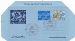 Vatican City 1979 A 16 Keys With Additionl Stamp, Salvator Mundi, Used Aerogramme - Vatican