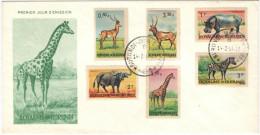 BURUNDI - 1964 - Wild Animals - Low Values - FDC - 1962-69: Usati