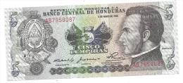 Honduras 5 Lempiras 1980 UNC - Honduras