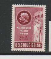 Bel Mi.Nr. 960/ BELGIEN -  Widerstandskämpfer 1953  **  MNH - Ongebruikt