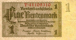 Germany,1 Rentenmark,Berlin,30.01.1 937,P.173 B,used,see Scan - [ 4] 1933-1945 : Third Reich