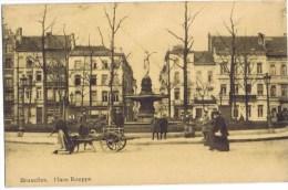 Cpa BRUXELLES Place Rouppe Attelage Chiens AU DOS Souvenir De La Maison Gustave Story Specialites Machines A Coudre - Places, Squares