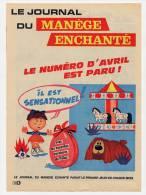 Publicité De 1966 Sur Le Journal Du Manège Enchanté - Vieux Papiers