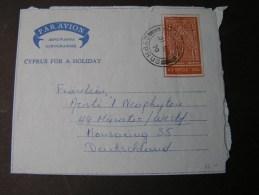 == Cypros  Cv.  Aerogramme 1970 - Zypern (Republik)