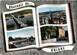 Loiret  -gd Format Div-ref M407- Souvenir De Briare - Multivues    - Carte Bon Etat - Briare