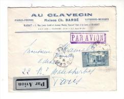 Maroc Au Clavecin Piano Barbé Rabat Par Avion Phonographe - Maroc (1891-1956)
