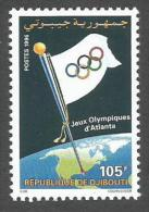 Djibouti 1996 Jeux Olympiques Olympic Games Atlanta Yvert 719H Michel 624 Neuf Mint MNH - Djibouti (1977-...)