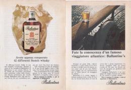 1967 - Whisky BALLANTINE'S  -  2 Pagine Pubblicità Cm. 13 X 18 - Whisky
