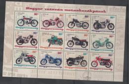 HUNGARY, 2014, MNH, MOTORBIKES, SHEETLET, EMBOSSED - Motos
