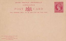 (3 Scans) GIBRALTAR 1895? - 2 X 10 Centimos Ganzsache Doppelpostkarte Ungebraucht, Sehr Selten - Gibraltar