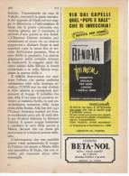 1967  -   RINOVA  For  Men     -  1 P.  Pubblicità Cm. 13,5 X 18,5 - Riviste