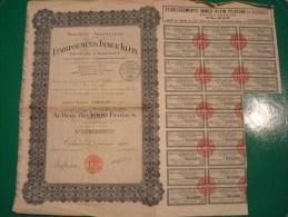 IMMER-KLEIN (ETABLISSEMENTS) FILATURE ET TISSAGES . COLMAR . 1931 . ACTION DE 1000F REDUITE A 200 - Actions & Titres