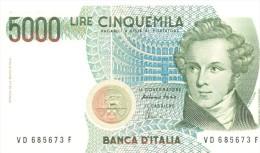 ITALIA BANCONOTA DA LIRE 5000  BELLINI SERIE VD 685673  F   FDS - 5000 Lire