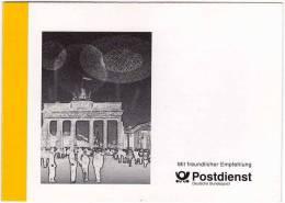 Fall Der Mauer In Berlin 1989 Ministerkarte BRD 1769 Als MK O 5€ Fahne Auto Grenz-Übergang Flag Card Document Of Germany - Non Classés