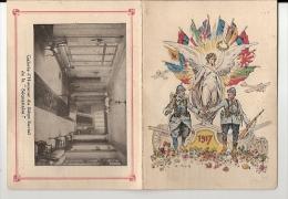 OFFERT A NOS SOLDATS PAR LA SEQUANAISE MINI CALENDRIER ANNEE 1917 GUERRE - Klein Formaat: 1901-20