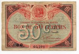 Nantes -  50 Centimes 1924 - Cámara De Comercio