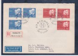 Sweden Scott # 689-692 Registed FDC 1965 Nobel Prize - FDC