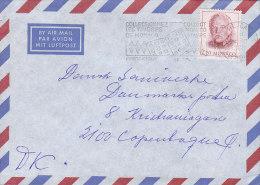 """Monaco Airmail Par Avion Flamme """"Collectionnez Timbre"""" MONTE-CARLO 1989 Cover Lettre Rainier III. Timbre - Monaco"""