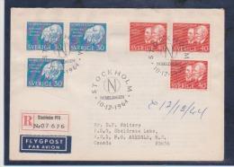 Sweden Scott # 673-676 Registed FDC 1964 Nobel Prize - FDC
