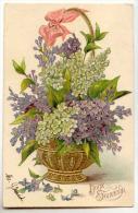 D12576 -  Corbeille De Fleurs -  Doux Souvenir - Holidays & Celebrations
