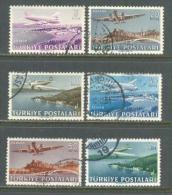 1949 TURKEY AIRMAIL STAMPS AIRPLANE USED - 1921-... République