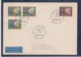 Sweden Scott # 637-639 FDC 1963 Nobel Prize Winner - FDC
