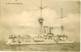 S.M.S. Brandenburg Pre Dreadnought Battleship 1891 Built Printed 1911 Ungelaufen - Guerre