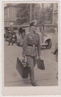 Soldaten-Portrait, PKW, Kennung SS-7722, Foto-Postkarte, Drittes Reich, Deutsche Wehrmacht, WWII - Weltkrieg 1939-45