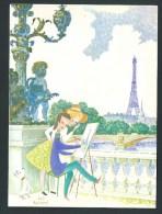 Josette & Suzanne Boland. Parisienne, N°3084.   Carte Double. - Non Classés