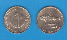 ESLOVENIA   1 TOLAR  1.994  Latón  KM#4   XF/EBC   DL-11.116 - Eslovenia