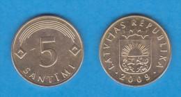 LETONIA   5 SANTIMI  2.009  Latón  KM#16  MBC/EBC   VF/XF      DL-11.111 - Letonia
