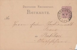 DR Ganzsache Nachv. Stempel Colbergermünde 14.7.83 - Deutschland