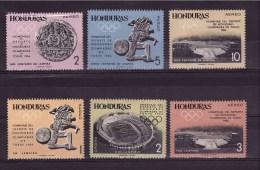 HONDURAS 1964  Olympic Games Odd Value Yvert Cat. N° 313-14-16-318/20 MNH ** - Honduras