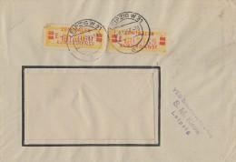 DDR Brief Dienst Mef Minr.2x 19II Leipzig 8.12.58 - DDR